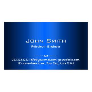 Cartão de visita azul do engenheiro do petróleo do