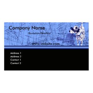 Cartão de visita azul do Grunge do cão