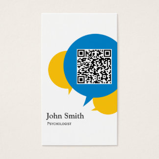 Cartão de visita azul do psicólogo da bolha