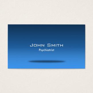 Cartão de visita azul do psiquiatra do espaço