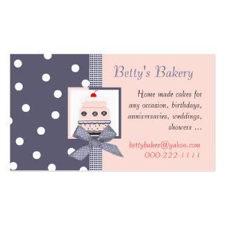 Cartão de visita azul e cor-de-rosa na moda