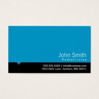 Cartão de visita azul moderno do pediatra