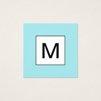 Cartão de visita azul moderno minimalista do
