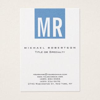 Cartão de visita azul na moda da listra do