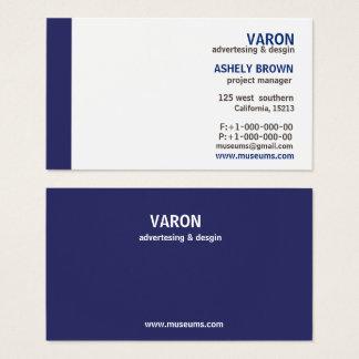 Cartão de visita azul simples elegante