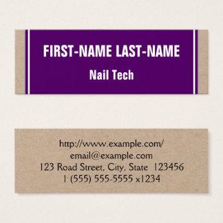 Cartão de visita básico e minimalista da
