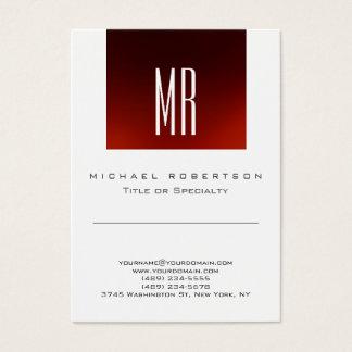 Cartão de visita bonito branco vermelho do
