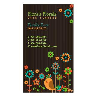 Cartão de visita bonito da loja de florista do Hor