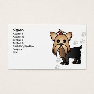 Cartão de visita bonito do cão do yorkshire