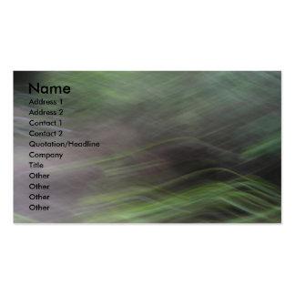 Cartão de visita borrado da imagem