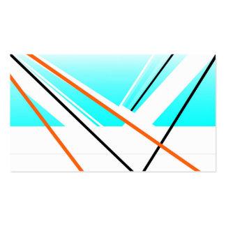 Cartão de visita branco azul abstrato do design da