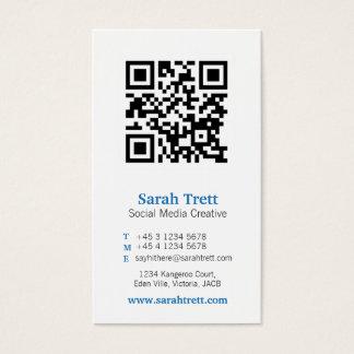 Cartão de visita branco azul dos meios da imagem