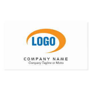 Cartão de visita branco clássico com logotipo