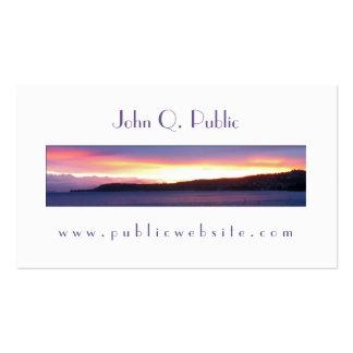 Cartão de visita branco do quadro da foto