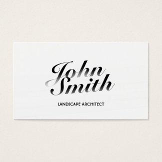 Cartão de visita branco elegante do arquiteto de