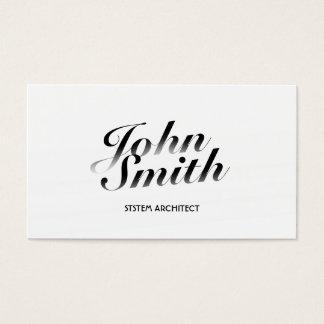 Cartão de visita branco elegante do arquiteto do