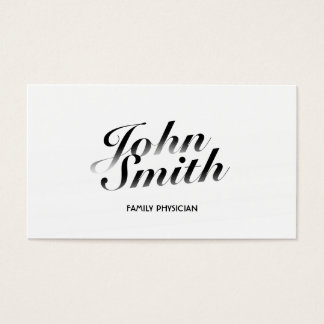 Cartão de visita branco elegante do médico de
