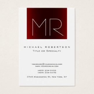 Cartão de visita branco listrado vermelho do