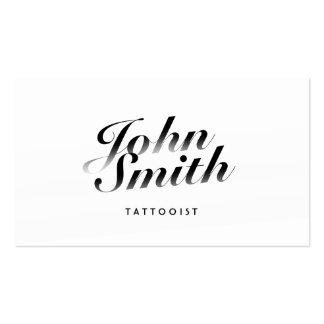 Cartão de visita caligráfico elegante da arte do