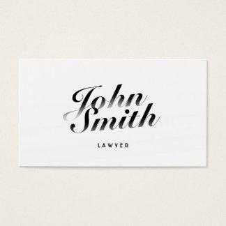 Cartão de visita caligráfico elegante do advogado