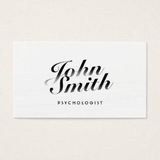 Cartão de visita caligráfico elegante do psicólogo