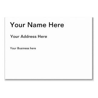 Cartão de visita carnudo