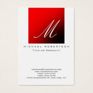 Cartão de visita carnudo da listra vermelha branca