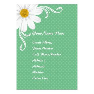 Cartão de visita carnudo da margarida do primavera