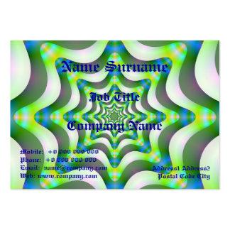 Cartão de visita carnudo das ondas claras