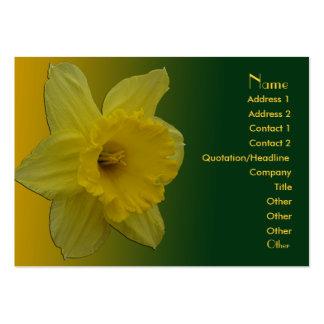 Cartão de visita carnudo do Daffodil