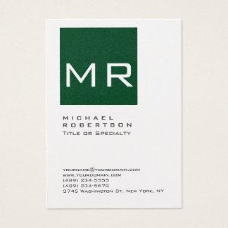 Cartão de visita carnudo do monograma de Forest