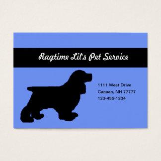 Cartão de visita carnudo do serviço azul do animal