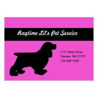 Cartão de visita carnudo do serviço cor-de-rosa do