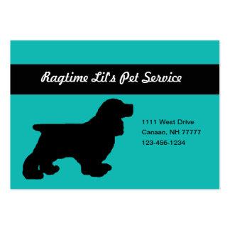 Cartão de visita carnudo do serviço do animal de