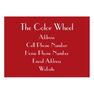 Cartão de visita carnudo do vermelho indiano de Th