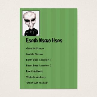 Cartão de visita carnudo estrangeiro cinzento