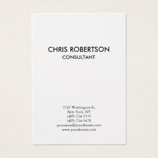Cartão de visita carnudo liso vertical