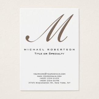 Cartão de visita carnudo original branco do