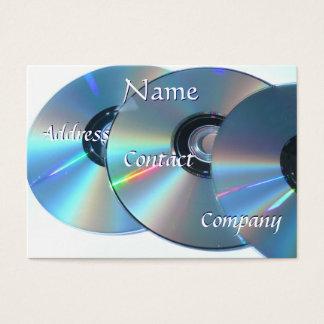 Cartão de visita CD II do DJ