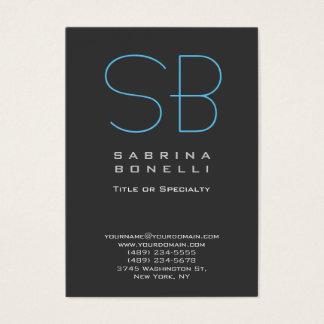 Cartão de visita chique azul cinzento carnudo do