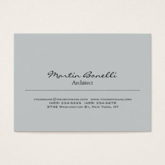Cartão de visita cinzento à moda carnudo na moda