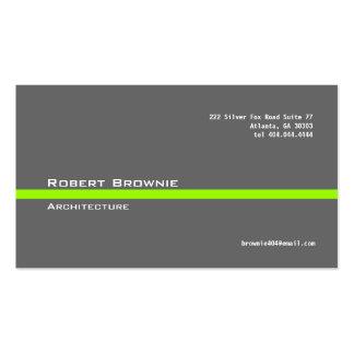 Cartão de visita cinzento clássico da Linha Verde