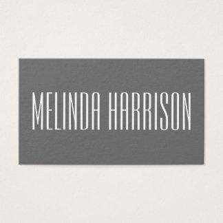Cartão de visita cinzento corajoso moderno