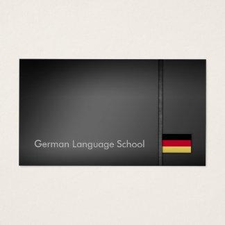 Cartão de visita cinzento simples da escola de