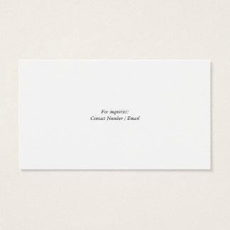Cartão de visita clássico