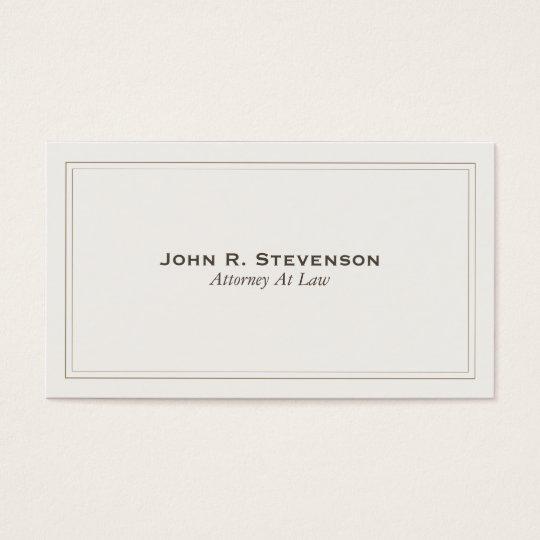 Cartão de visita clássico do advogado