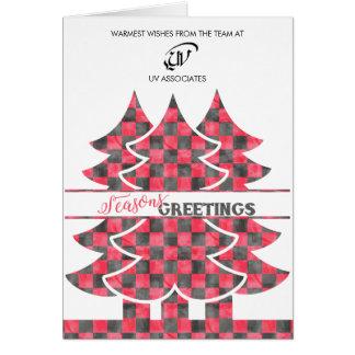 Cartão de visita clássico do Natal da xadrez do