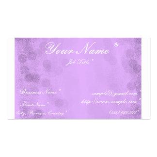 Cartão de visita - coleção roxa do escritório de O