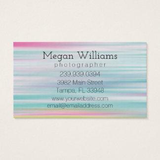 Cartão de visita colorido brilhante