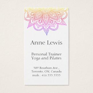Cartão de visita colorido brilhante, customisable